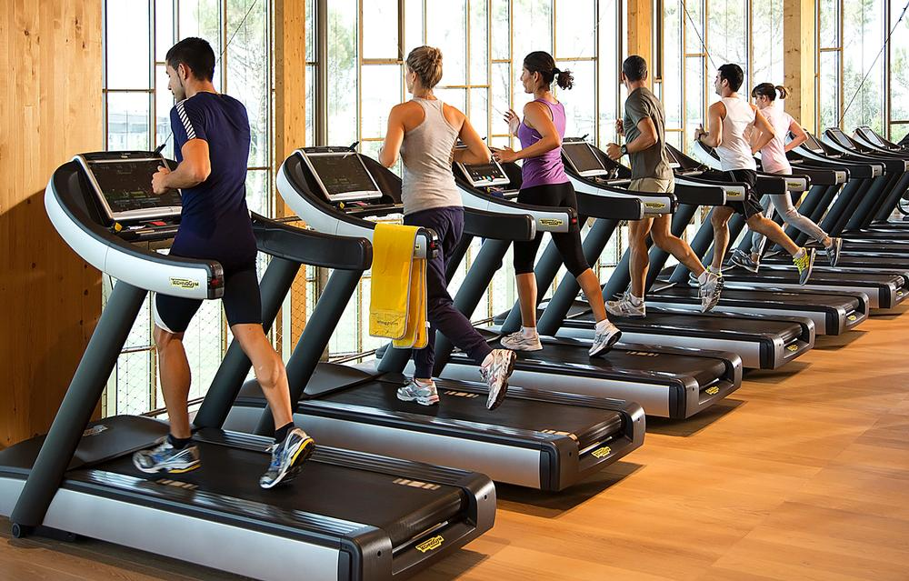 The 5,000sq m gym is free for staff and visitors to use
