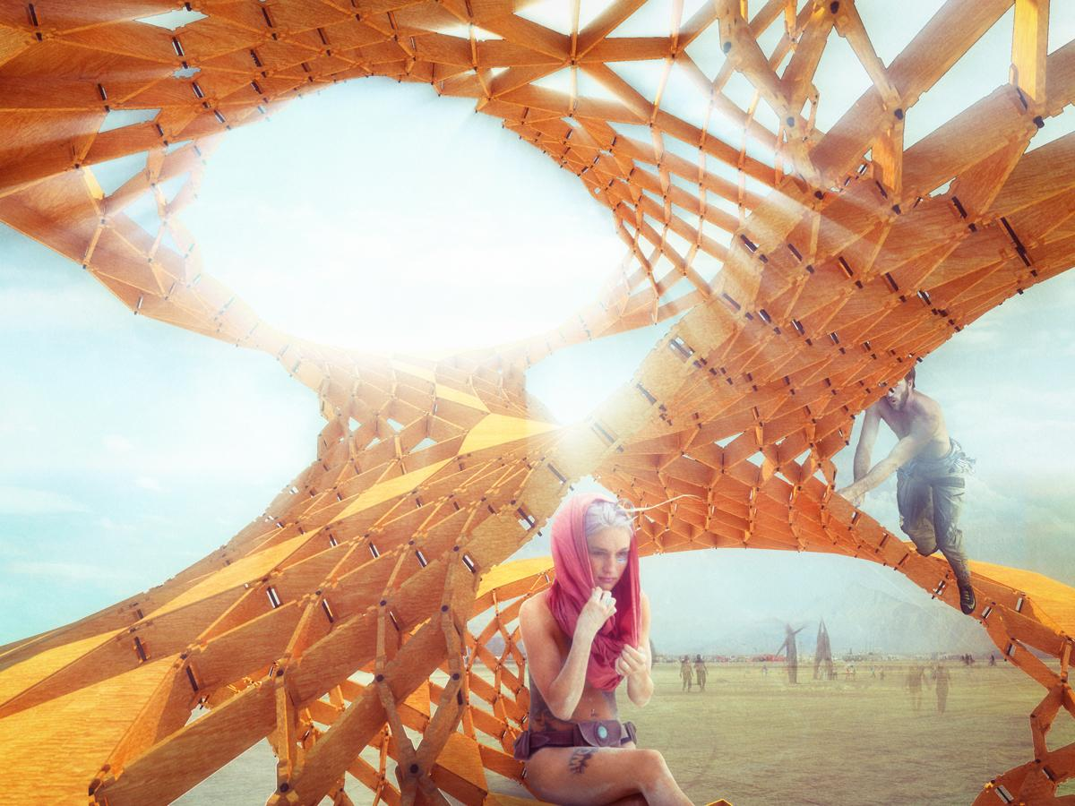 The Infinity Tree pavilion reflects the intricacies of natural design
