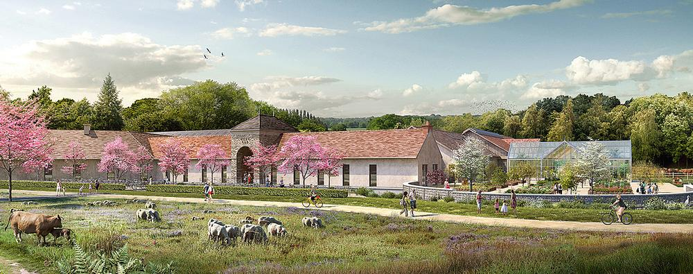 Renderings of the farm / top photo: ©lionel de segonzac atelier