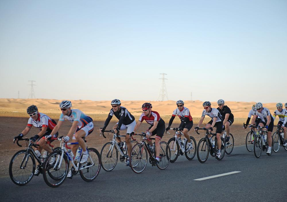 Hohmann says Dubai's climate and flat landscape are perfect for cycling