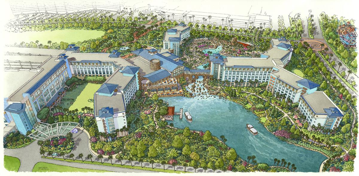 a rendering of sapphire falls universal orlandos newest resort accommodation offering slated to open in 2016