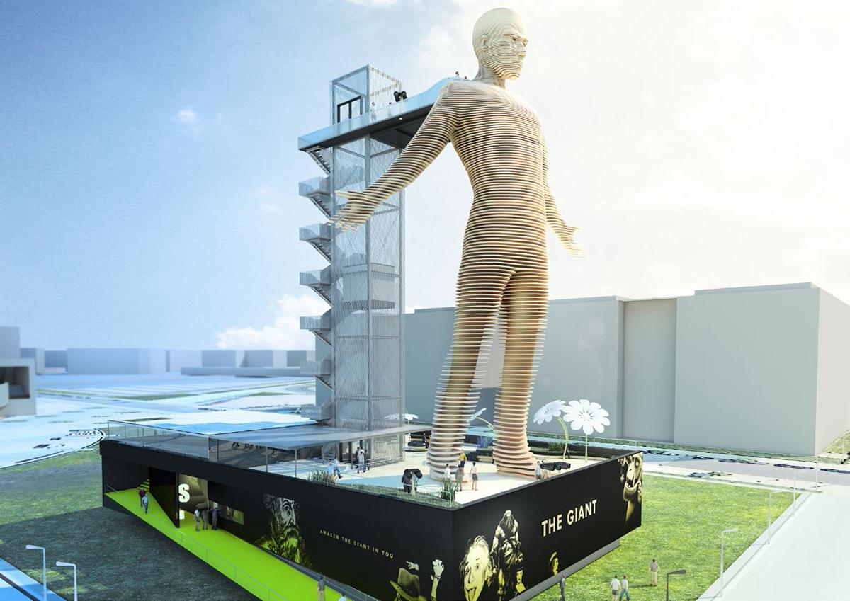 Each giant will be custom-designed for its location, with the first opening in Berlin, Germany