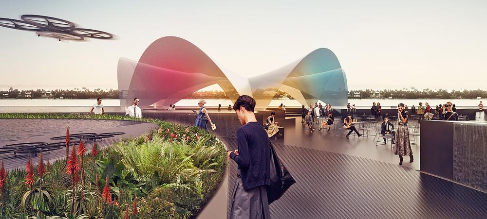 Ratti's floating plaza will incorporate a range of public facilities / Images: Carlo Ratti Associati