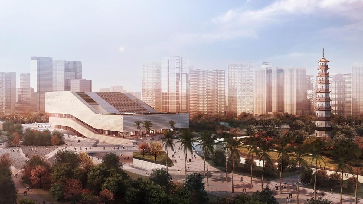 GMP's Guangzhou Museum will feature a central great hall with a number of terraced levels / GMP Architekten