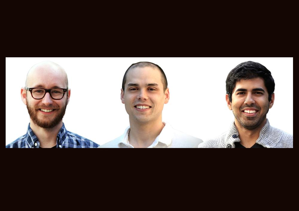 The three co-founders of AMPY met at Northwestern University in the US