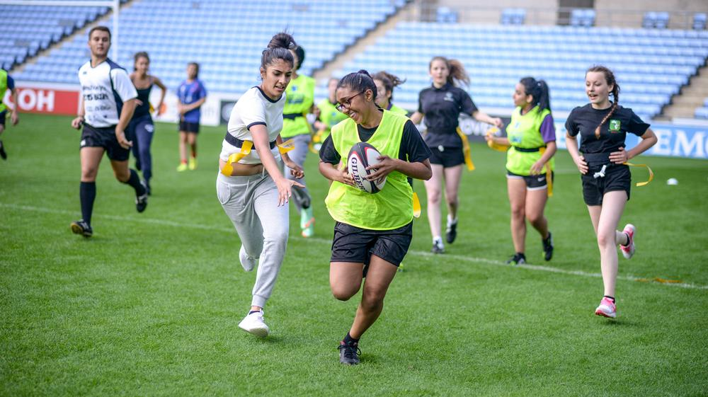 """The new Engage! initiative delivers rugby training at 50 schools and looks to establish Coventry as a """"city of rugby"""""""