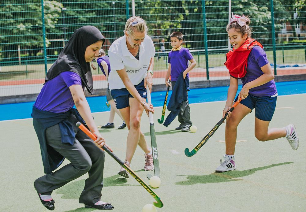 Danson launched the hockey academy to help kids get active and have fun