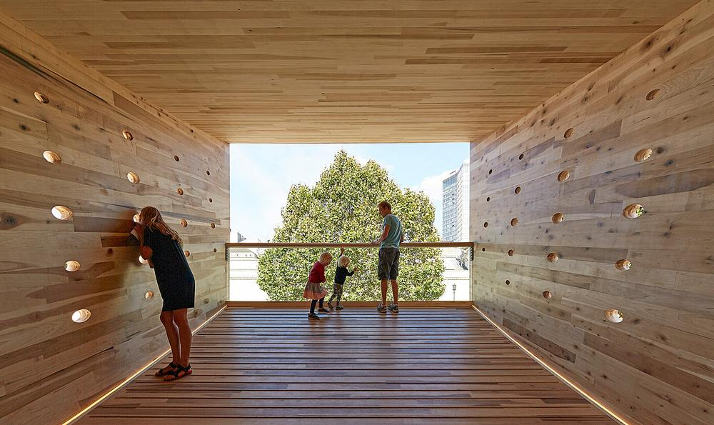 The Smile aimed to showcase the possibilities of timber construction  / Photo: Paul Riddle