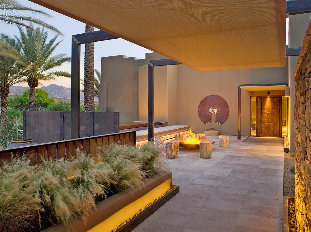 The entrance to the Miraval spa and wellness destination in Tuscan, Arizona