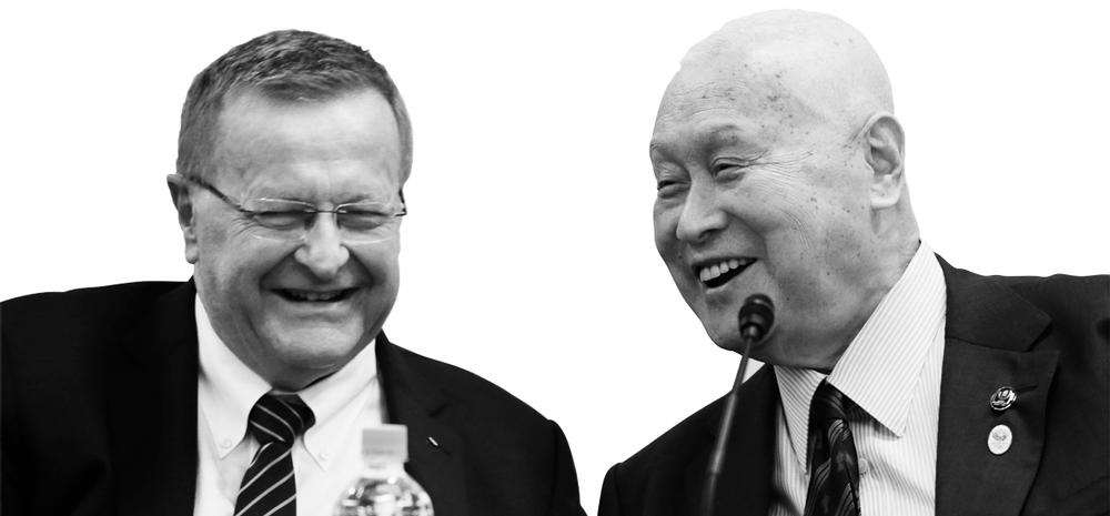 IOC vice president John Coates (left, with Tokyo 2020 president Koji Sasahara) said that the new sports will be relevant to young people / koji sasahara / press association images