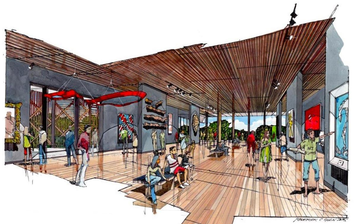 Plans will create 3,500sq m (37,600sq ft) of of exhibition space, in addition to a café and a bookshop