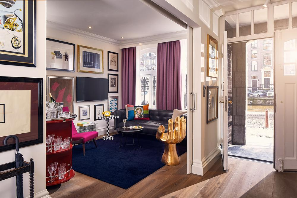 The Art Collector's Suite showcases artwork created especially for the hotel