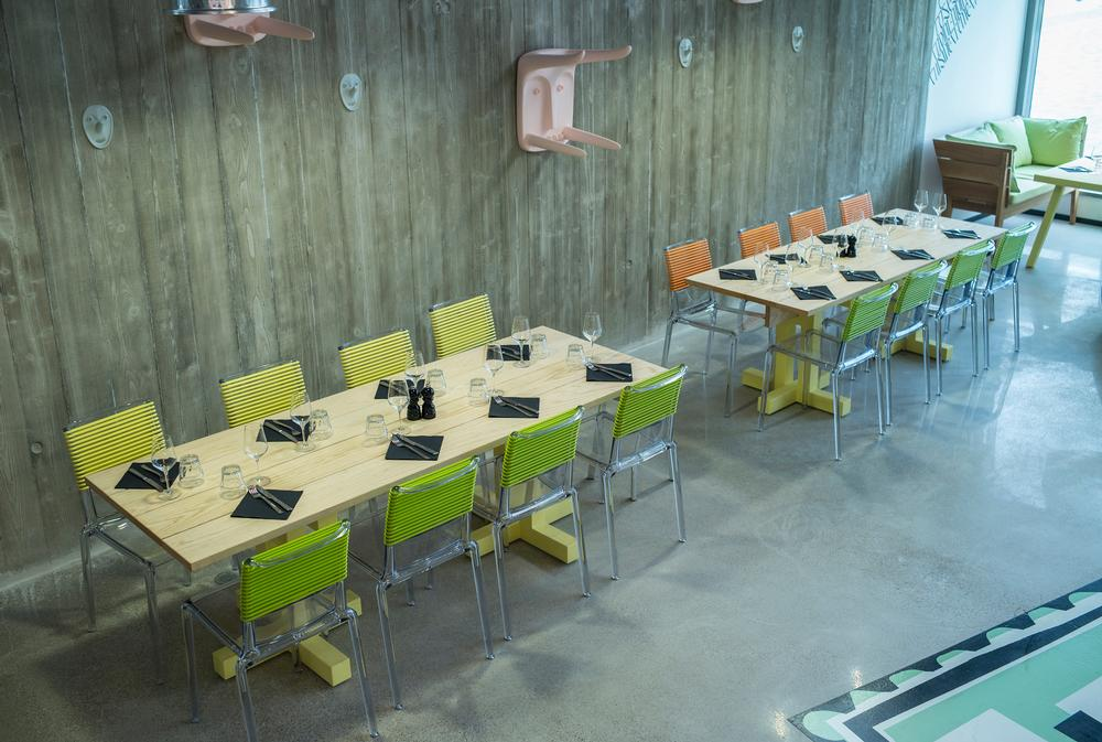 Philippe Starck furniture has been used throughout the facility, which is spread over five floors