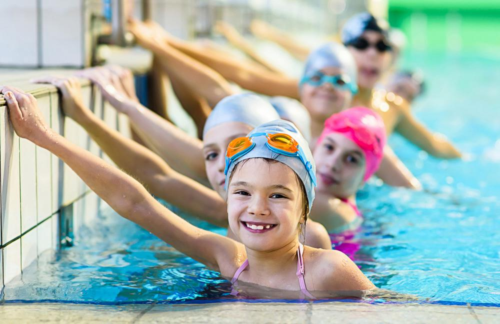 Biometric systems can ensure only registered guardians can access pool changing rooms during kids' swim sessions / PHOTOS: Shutterstock