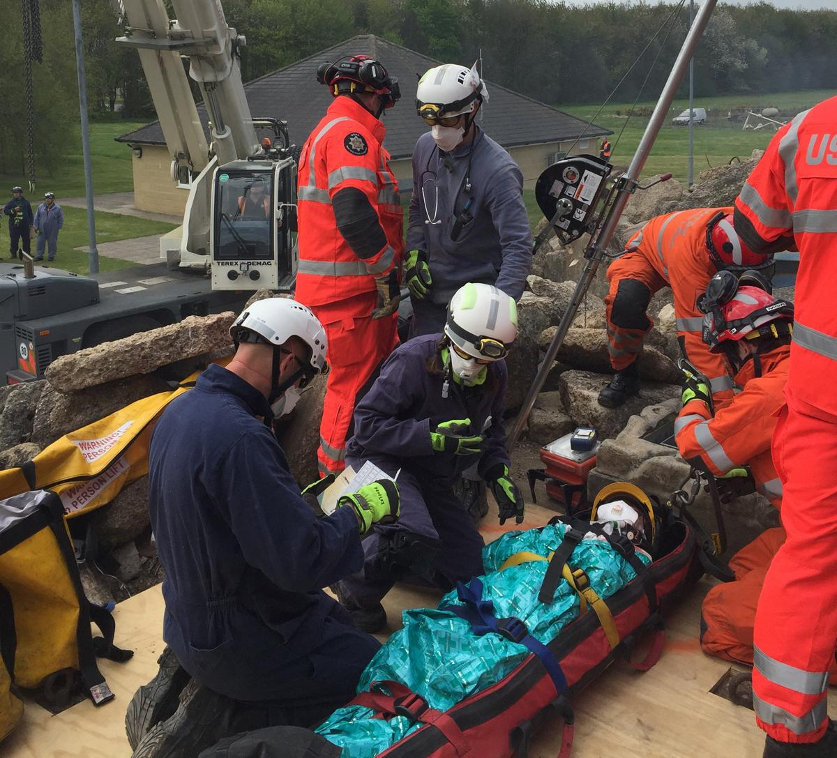 The course has been specially created for the emergency services, incorporating specific equipment to make it functional
