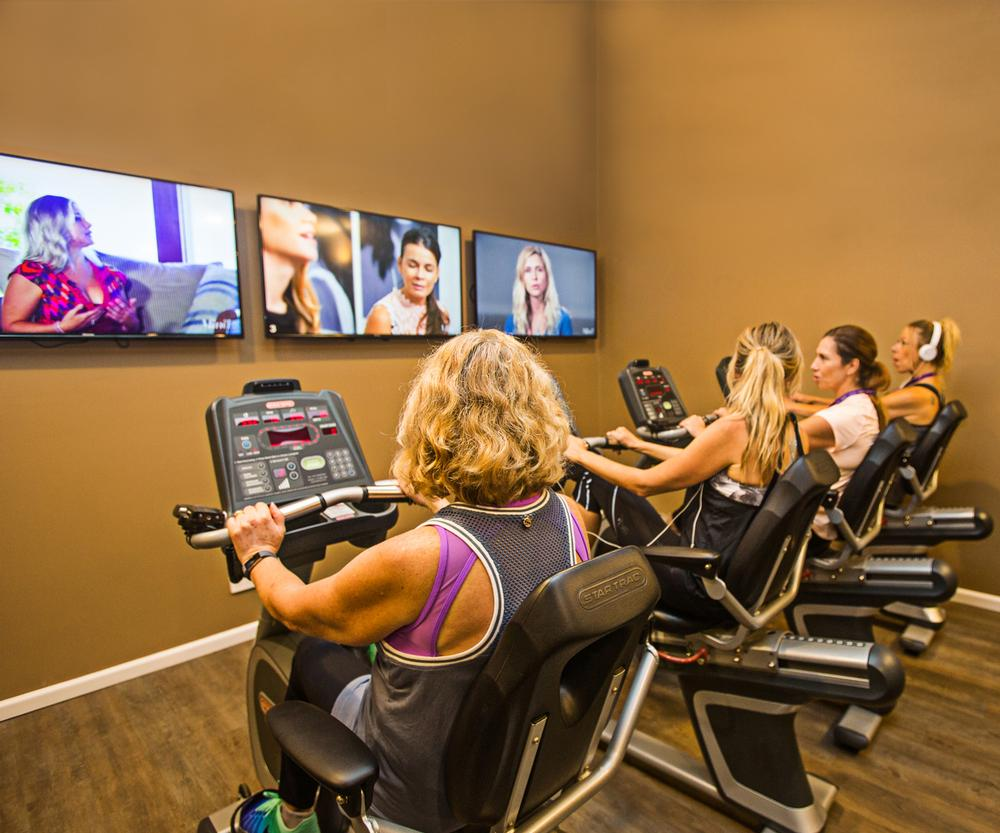 The Active Education room combines exercise with self care video viewing