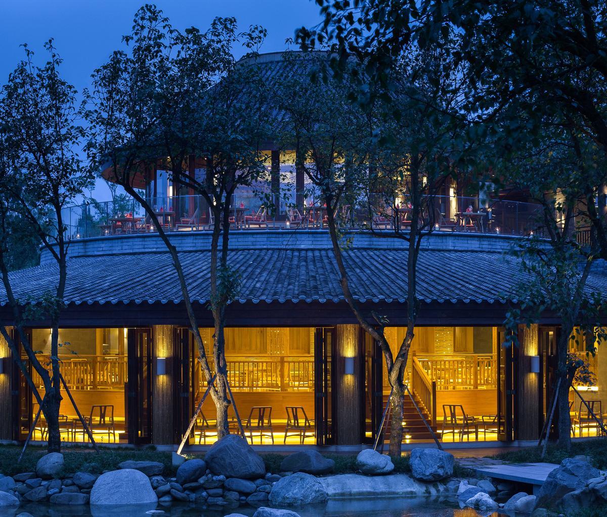 The Moon Bar at Six Senses Qing Cheng Mountain / Six Senses