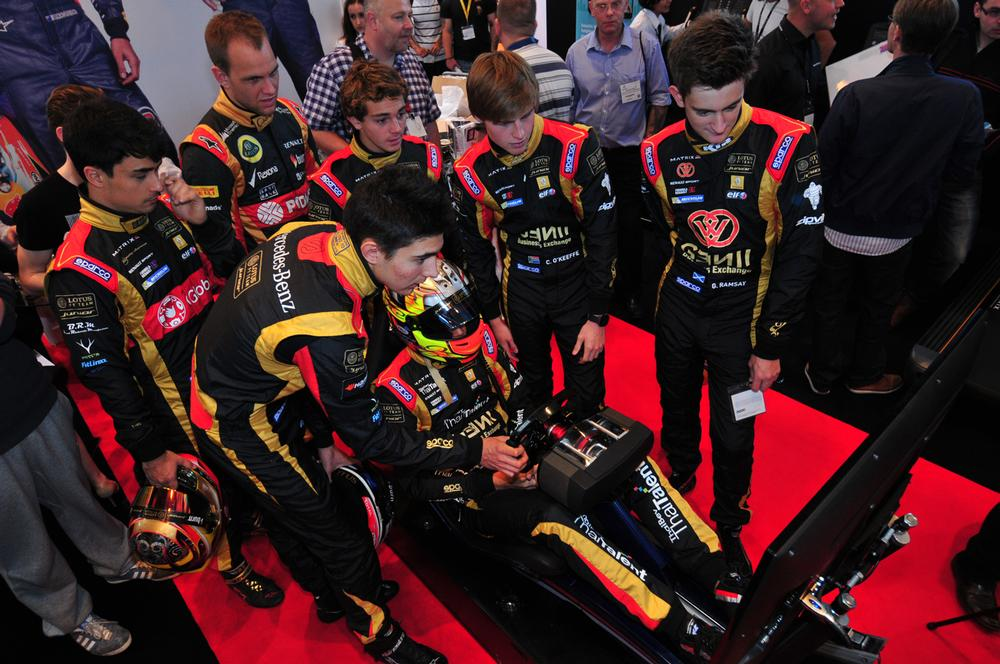 The Matrix stand hosted a number of celebrity ambassadors, including members of the Lotus F1 junior team