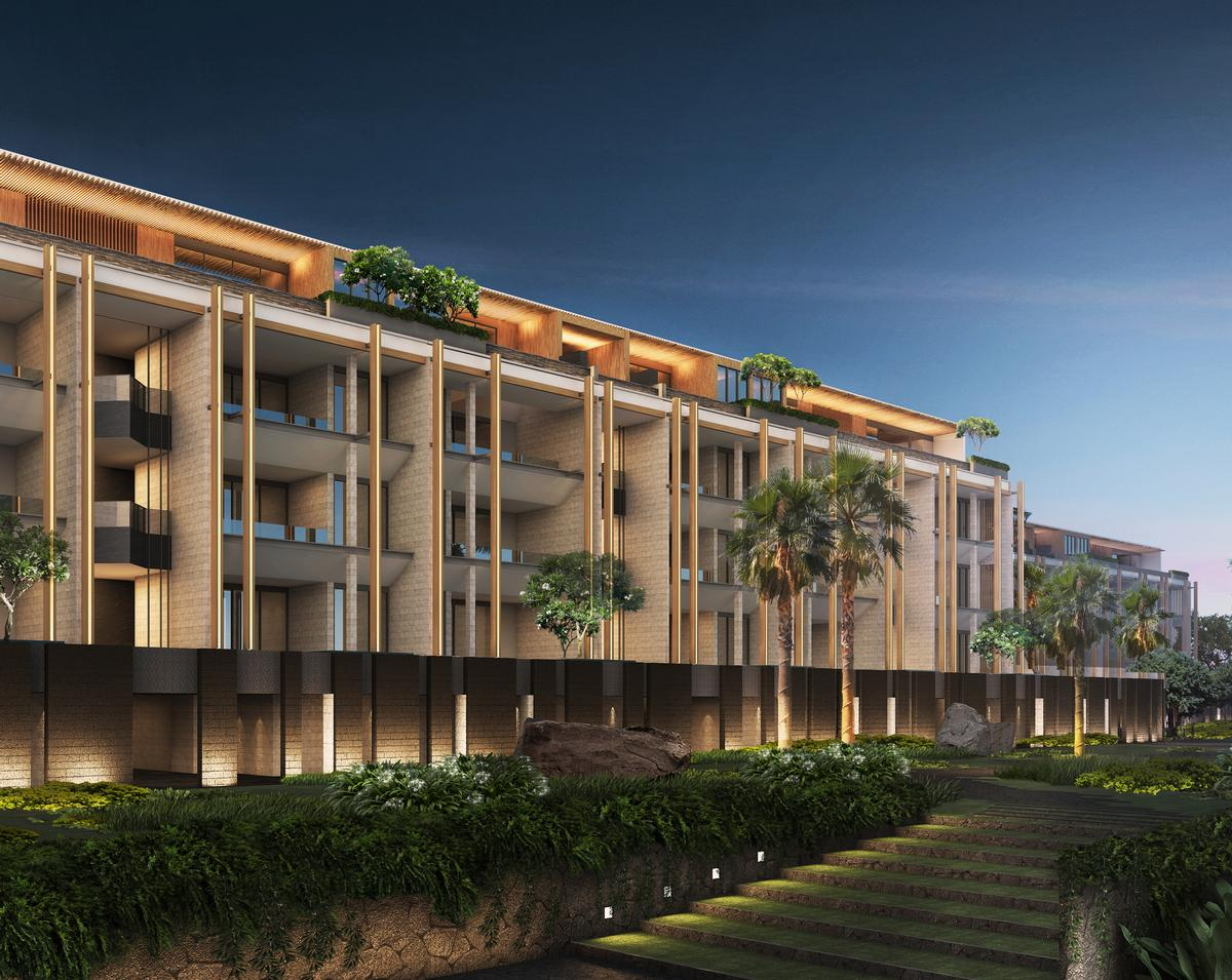The 116 villas will include 95 within low-rise buildings / Rosewood Hotels