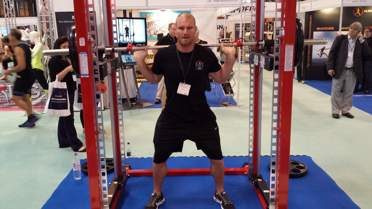 Poppinga says the XPT rack has the safety of a Smith machine and the versatility of free weights / Jak Phillips