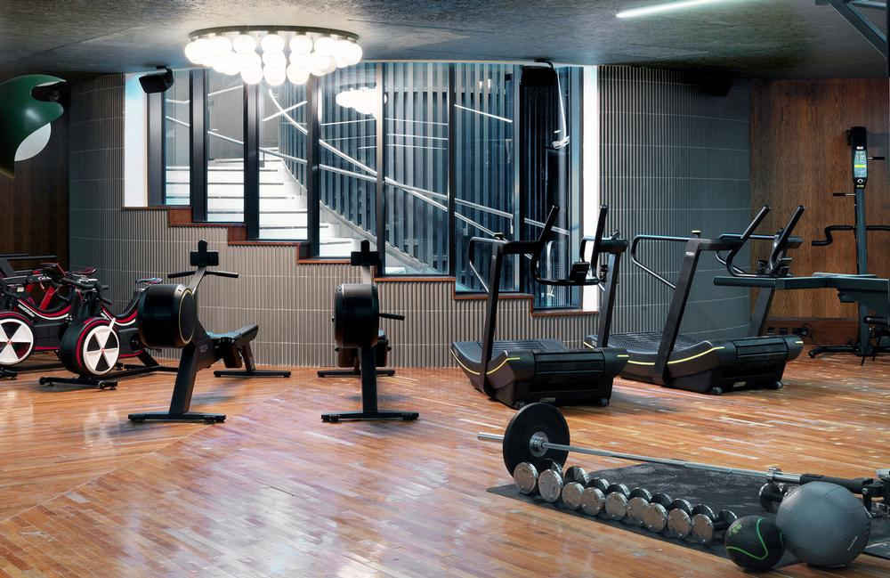 The gym has been designed to enable people to train like athletes