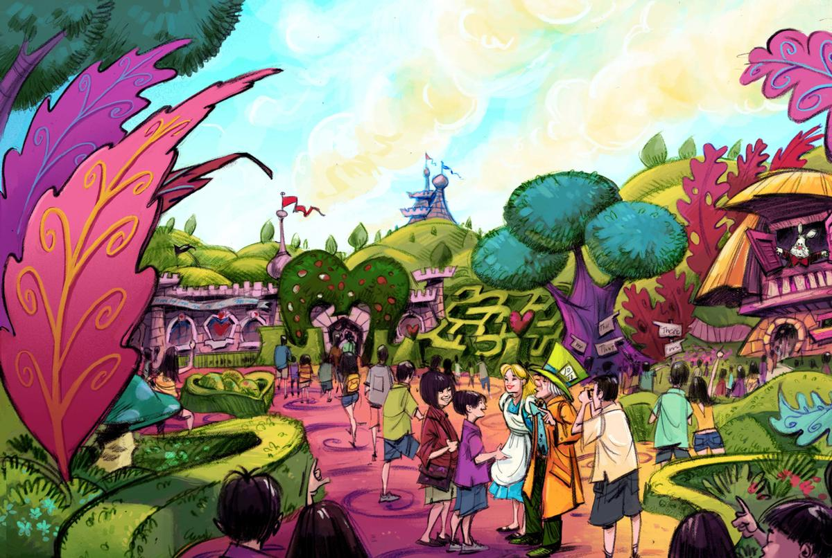 Alice in Wonderland will play a big role in the expansion / Disney
