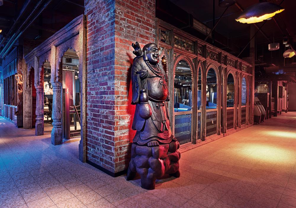 The club takes its design influences from different cultures around the world