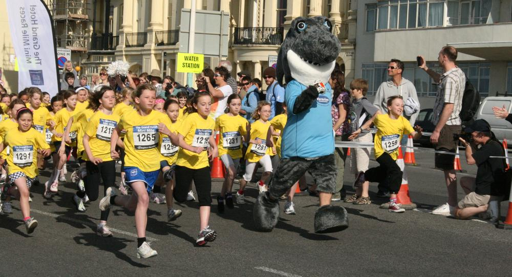 """Many of the mass participation events offer """"mini events"""" to encourage families to take part"""