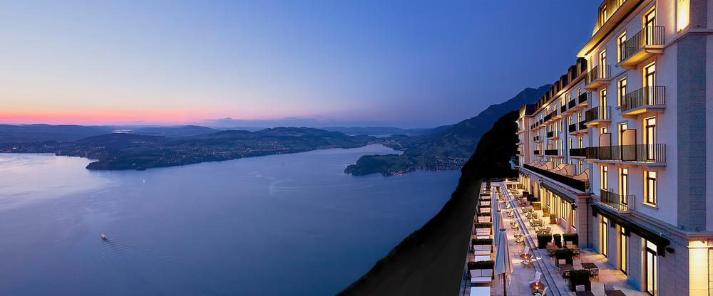 The resort is situated 500m above Lake Lucerne. All of the guestrooms face the lake