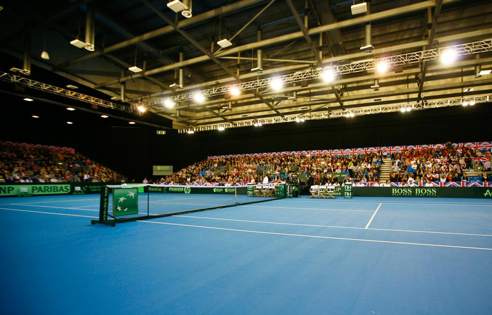 The adjustable 7,500-capacity indoor arena will be the home of the new netball team and has already hosted Davis Cup tennis / Jon Buckle / EMPICS Sport