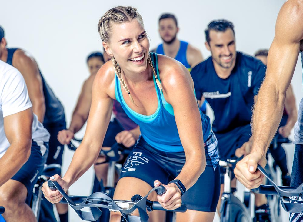 Les Mills offers 21 workouts, including RPM. All are updated every three or four months