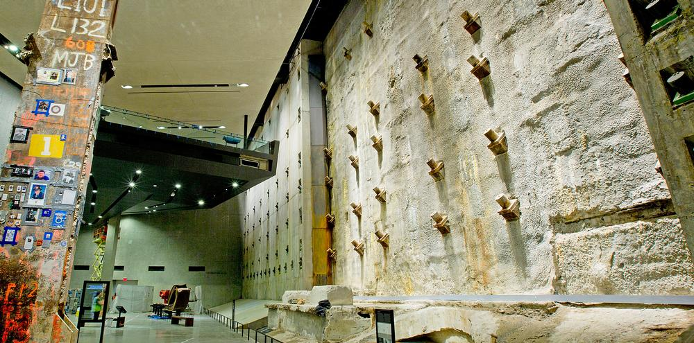 The slurry wall in Foundation Hall