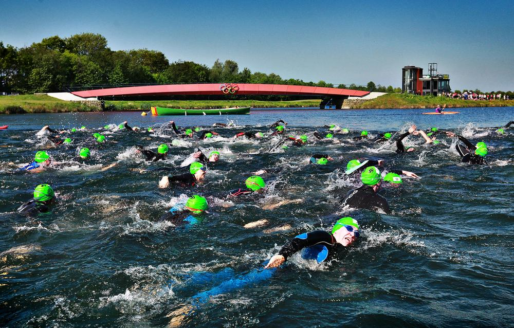 Open water swimming is one of the Human Race disciplines