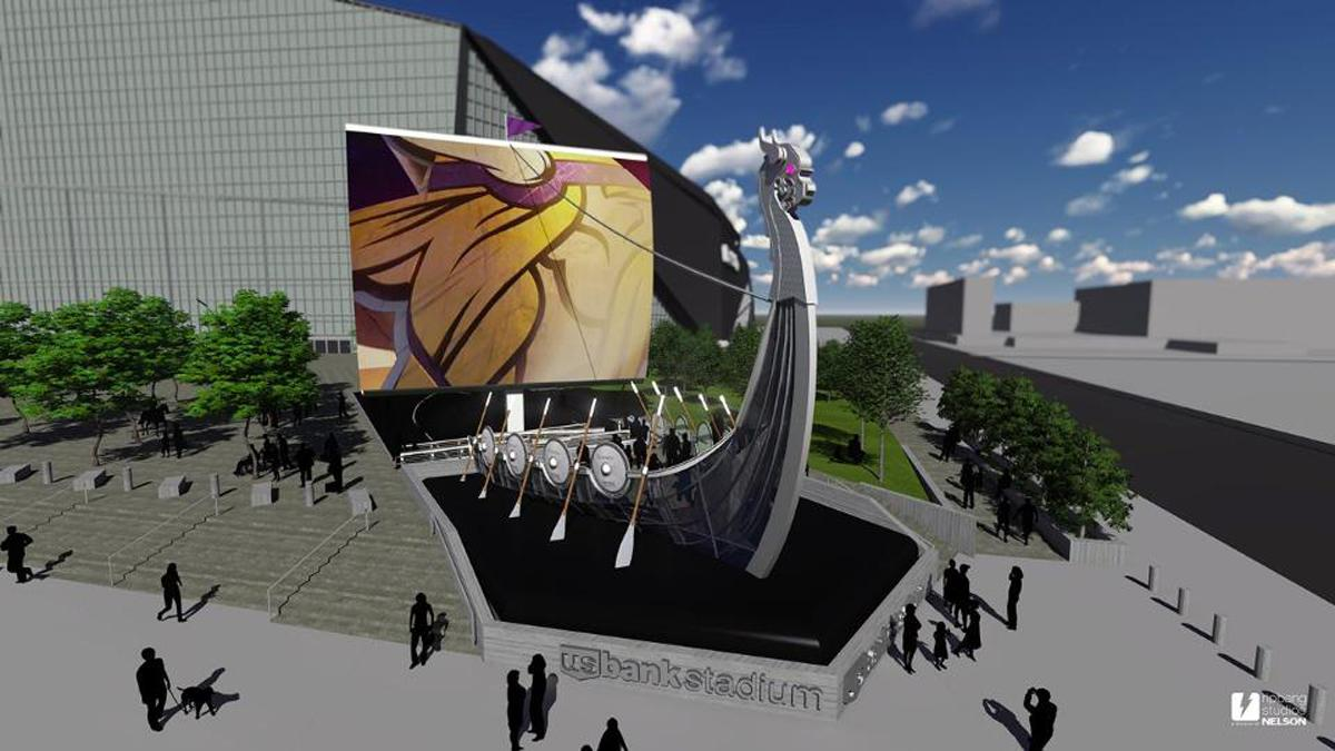 The Legacy Ship was designed by experience branding firm RipBang Studios / Minnesota Vikings