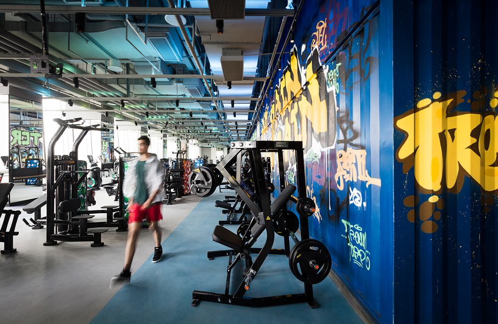 The gym is spread over two floors at Hotel Jen Beijing and is open 24 hours