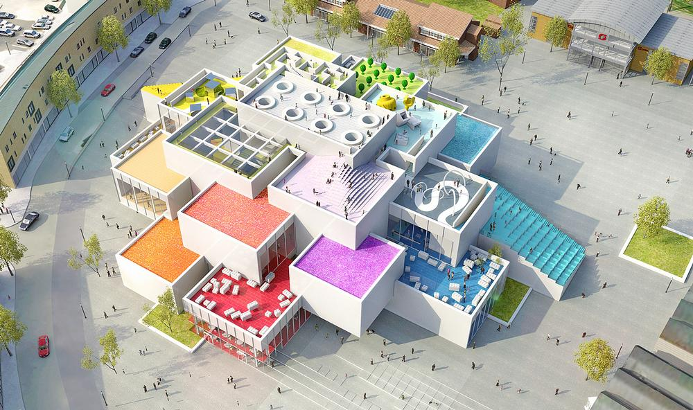 The LEGO House, 2013, under construction