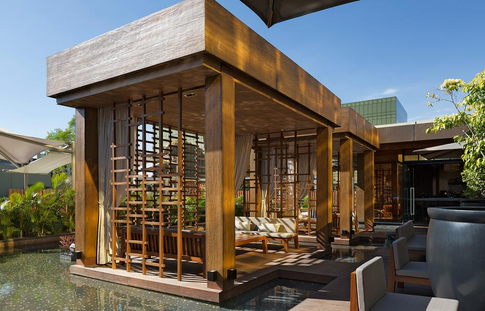 Nobu Manila opened in April 2015. Rockwell Group has designed more than 20 restaurants for Nobu, as well as Nobu Hotel at Caesar's Palace in Las Vegas
