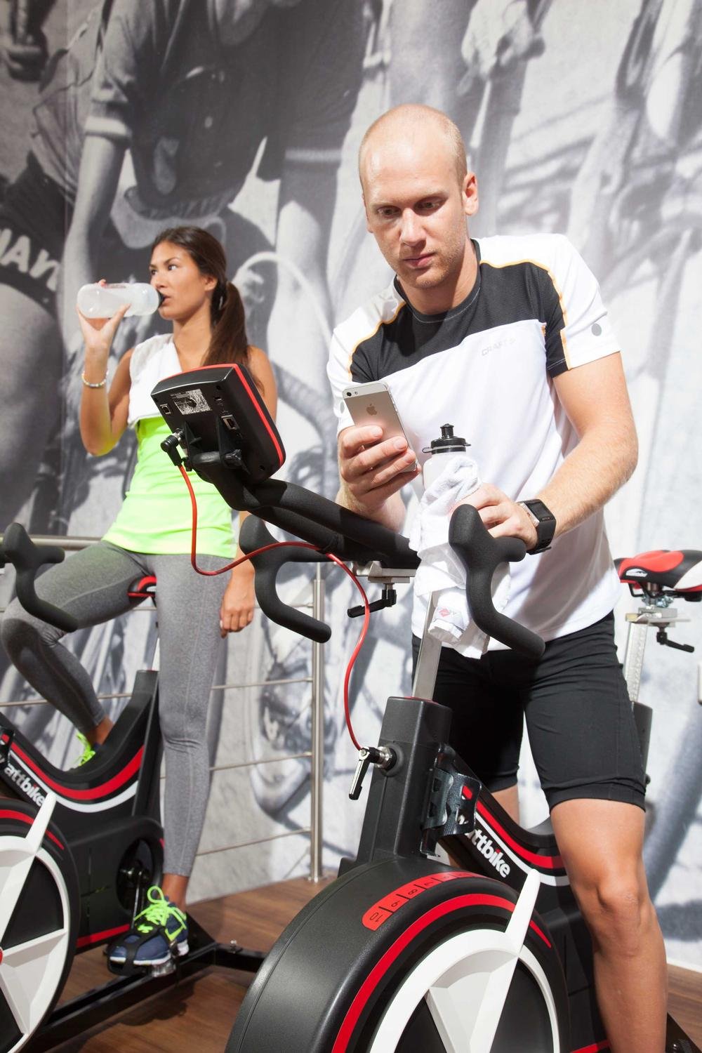 The Wattbike found in gyms is the same model used by elite athletes