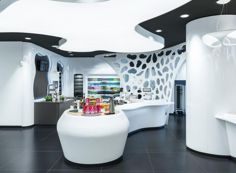 The Cyberobics concept store also features a training area