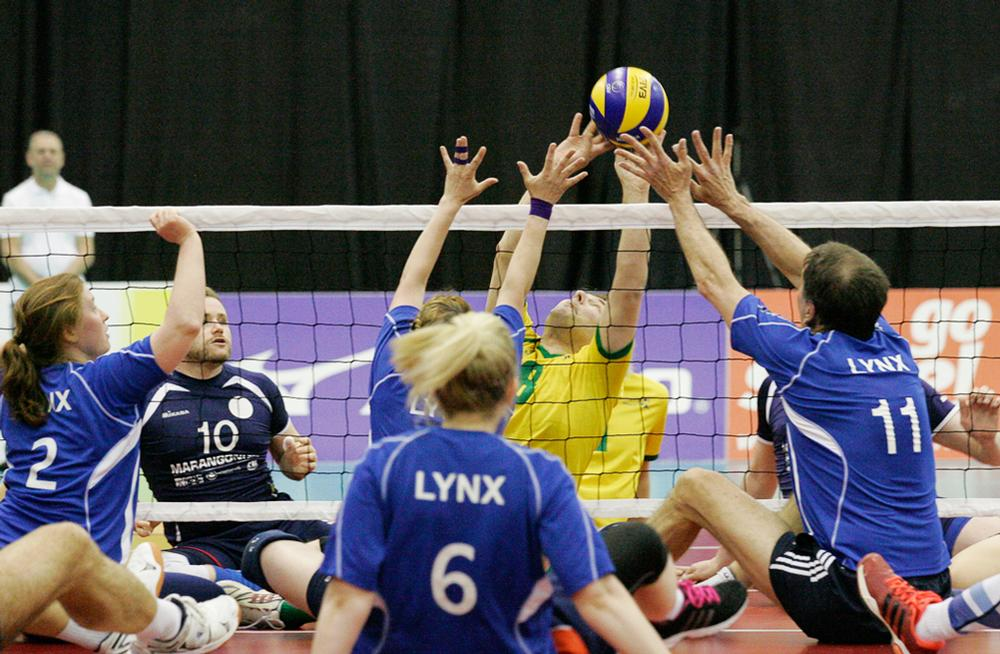 Sitting volleyball is one of three formats of the game played in England