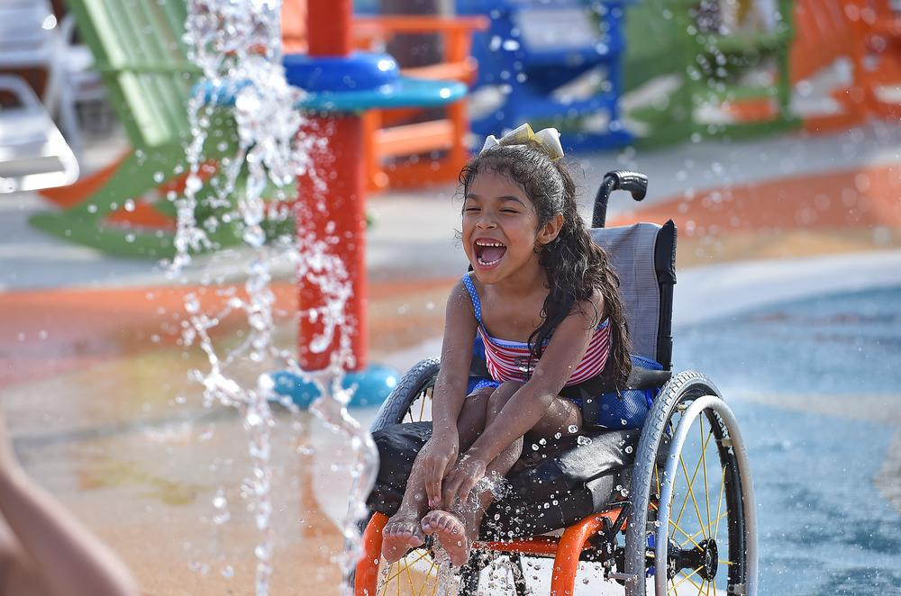 Inspiration Island is wheelchair accessible throughout