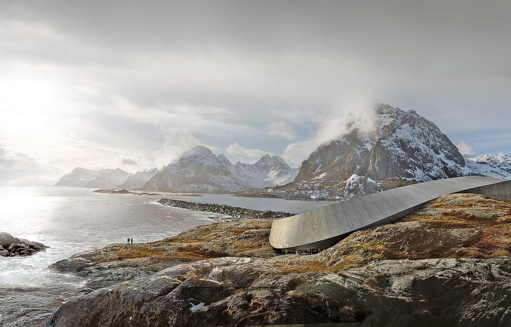 Lofoten Opera Hotel, designed by Snøhetta for an isolated northern Norway archipelago