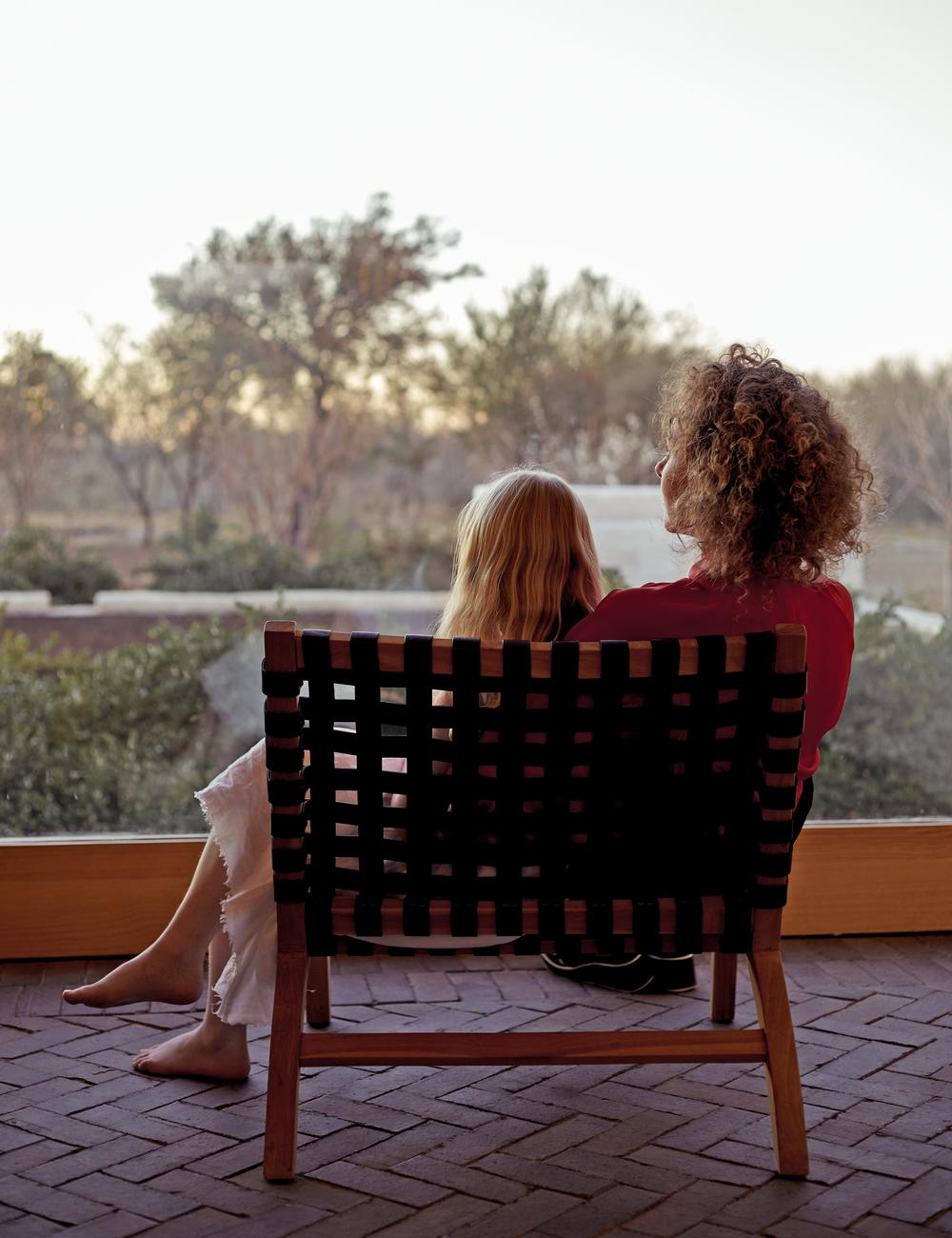 The family spend time together at the Swartberg House in South Africa, resting and recharging from their hectic life in London