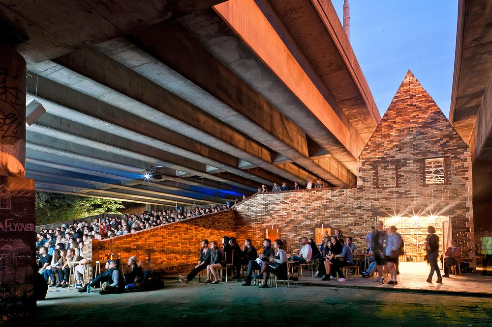Assemble's Folly for a Flyover transformed a London motorway undercroft into a temporary arts venue / Photo: David Vintiner