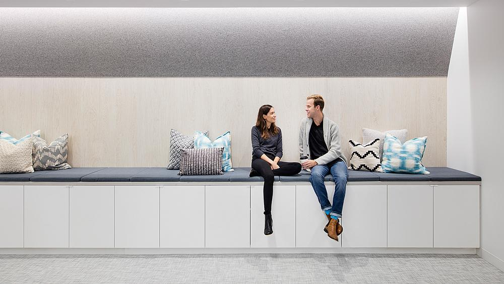 Well designed spaces can encourage social interaction / Stitch Fix Headquarters, CA ©Connie Zhou