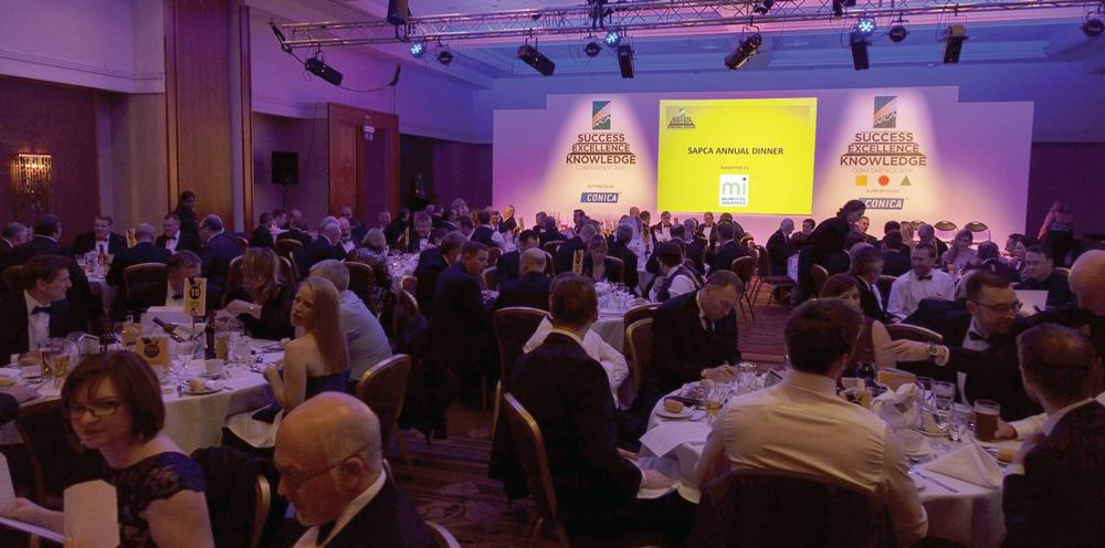 The SAPCA annual dinner and awards gala followed a busy day of seminars and technical sessions