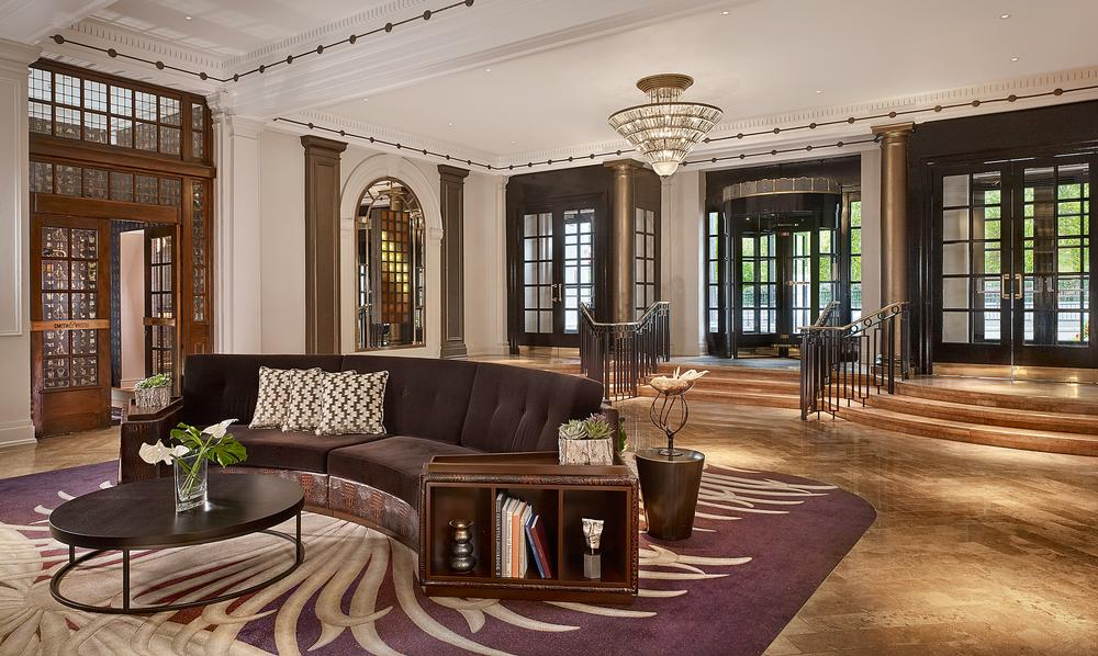 The hotel's historic Art Deco features were carefully restored