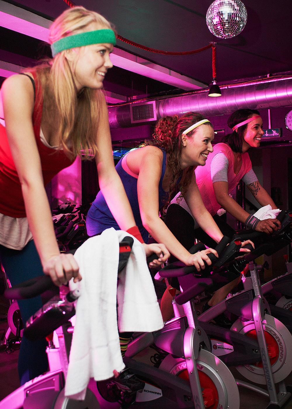Boom! Cycle uses Schwinn AC Sport bikes