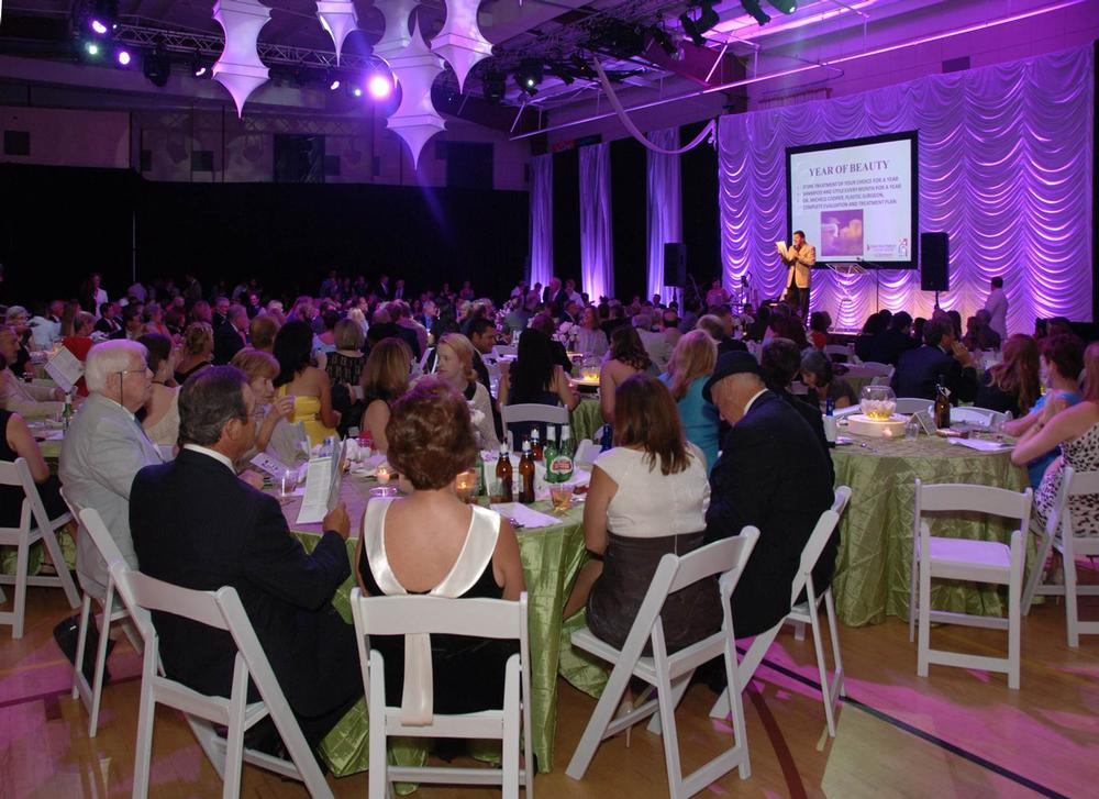 500 tickets were sold for a recent fundraising gala dinner, raising US$185,000 for charity – more than double the target