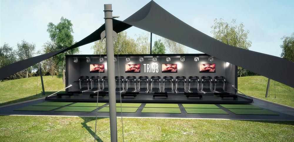 The mobile gyms are kitted out by Star Trac, Escape and Lightmaster